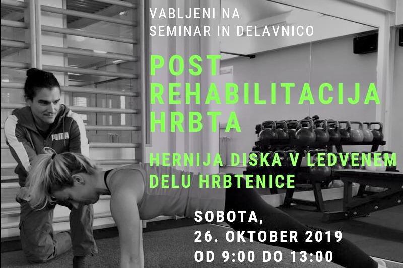 Seminar Post rehabilitacija hrbta